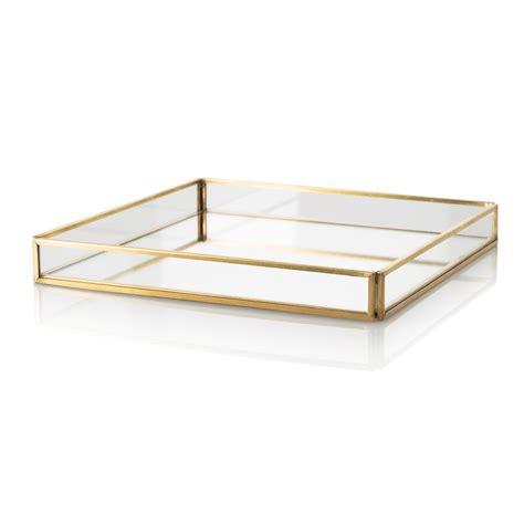 mirrored bathroom tray medium gold glass mirrored tray oliver bonas