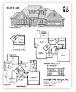 two story house plans with basement straightline design inc buy plans