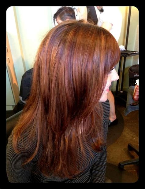 hairstyles copper highlights copper and red highlights hair pinterest copper her