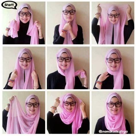 tutorial hijab pashmina kaos simple til anggun dalam berbagai 35 cara memakai jilbab pashmina simple kreasi terbaru 2017