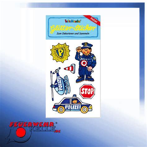 Polizei Aufkleber by 6 Polizei Glitter Sticker F 252 R Kinder Kaufen Feuerwehrkelle