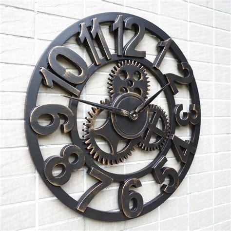decorative oversized wall clocks oversized large decorative rustic retro luxury vintage