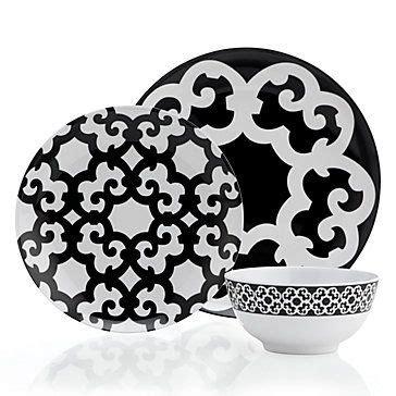 Geometric Pattern Dinnerware | the striking interlacing geometric pattern of our