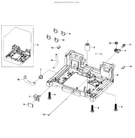 samsung dishwasher parts diagram parts for samsung dw80h9930us aa 0000 base assy parts