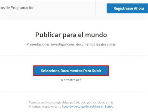 como descargar gratis de scribd cualquier documento c 243 mo descargar documentos de scribd gratis tochomorocho