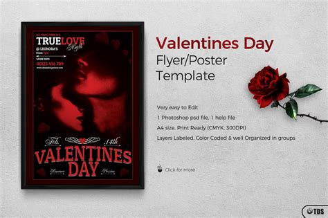 free valentines day flyer template psd design for photoshop