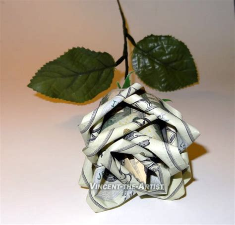 Money Origami Roses - details about beautiful money origami roses flowers made