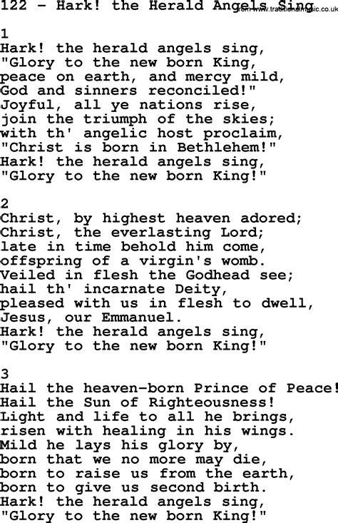 hark the herald sing testo adventist hymnal song 122 hark the herald sing