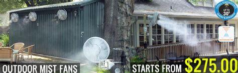 cooling mist fan outdoor outdoor fans industrial fans restaurant misting