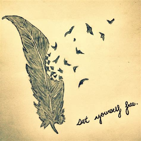 free yourself tattoo set yourself free tattoos words feathers