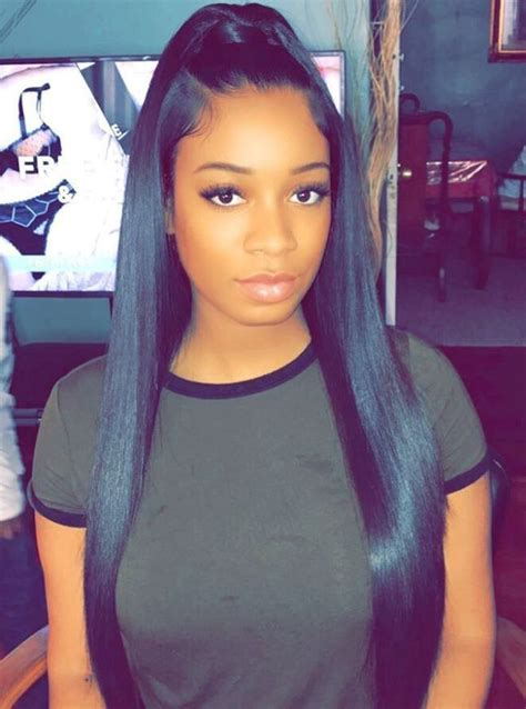 classy black ponytail hairstyles black ponytail