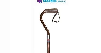 Tongkat Kaki Satu Tongkat Angsa Kaki Satu Alat Bantu Jalan tongkat kaki satu fs938l gagang leher angsa warna cokelat toko medis jual alat kesehatan