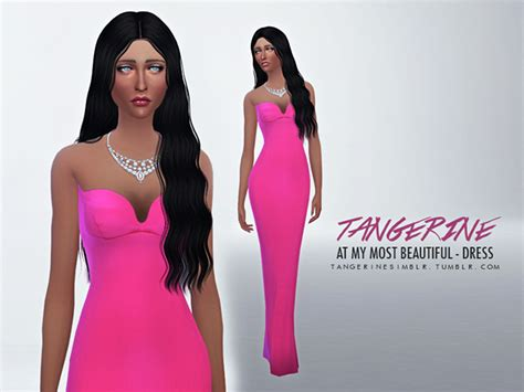 most liked sims 4 updates dress quot at my most beautiful quot by tangerine at sims fans