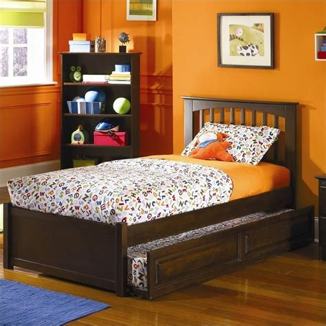 brooklyn bed atlantic furniture brooklyn twin platform bed with trundle