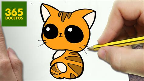 imágenes kawaii fáciles de hacer como dibujar gato kawaii paso a paso dibujos kawaii