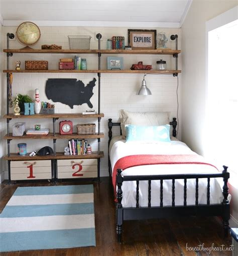 industrial shelves for a boy s room beneath my heart industrial shelves for a boy s room beneath my heart