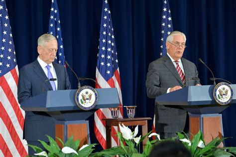Book Review In Aprons By Alex Mattis by Rex Tillerson And Mattis Lay Out New Strategy On