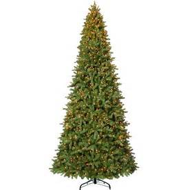 artificial christmas trees with lights from lowes trees