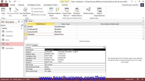 format date field in access query access 2013 tutorial the format property for date and time
