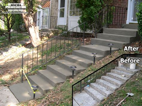 Rebuild Concrete Steps Leading To repairs rocha construction silver md