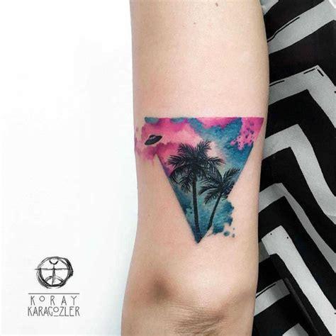 geometric tattoo palm triangle tattoo palm trees with ufo tattoos pinterest