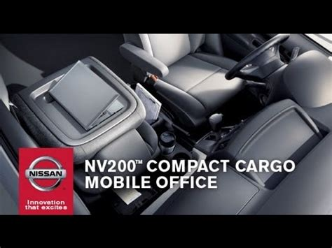 nissan nv200 office nissan nv200 mobile office youtube