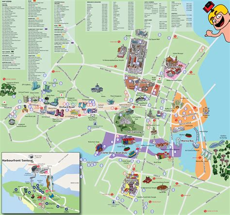 singapore on a map tourist map of singapore it s free