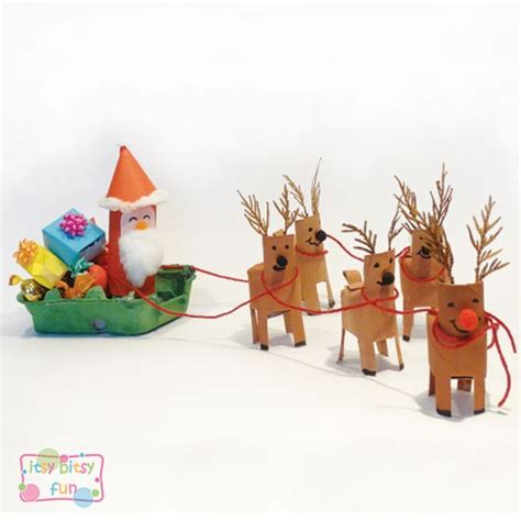 santa on the sleigh kids crafts 30 best images about crafts on reindeer winter craft and advent calendar