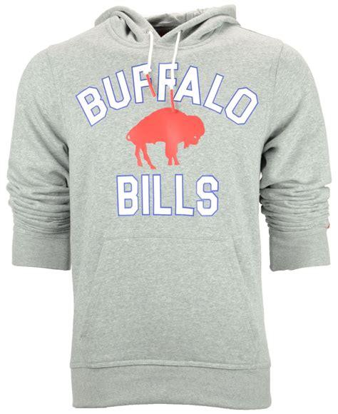 nike mens buffalo bills club rewind hoodie in gray for
