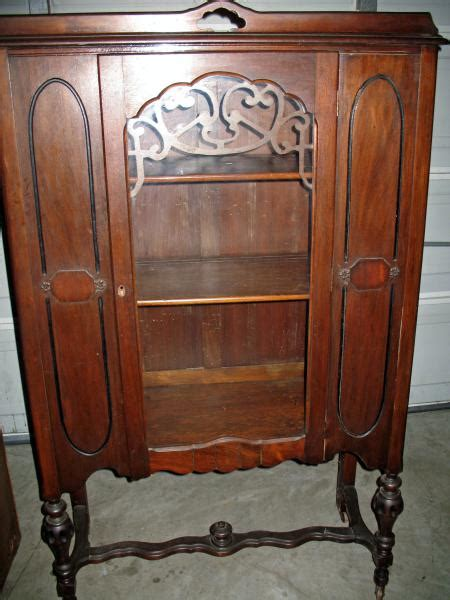 Cabinet Bosse by Vintage Antique Globe Bosse Curio China Cabinet Antique