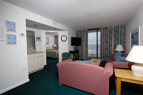 oceanfront  bedroom deluxe suite myrtle beach resorts vacation rentals sands resorts
