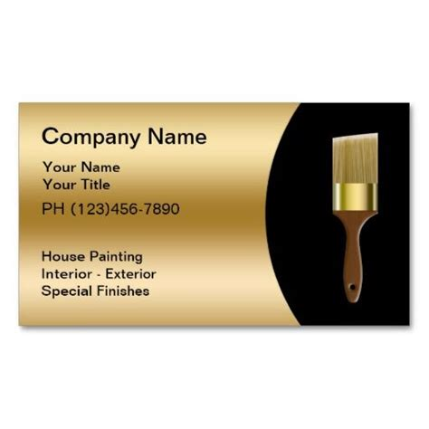 painter business card template 198 best images about painter business cards on