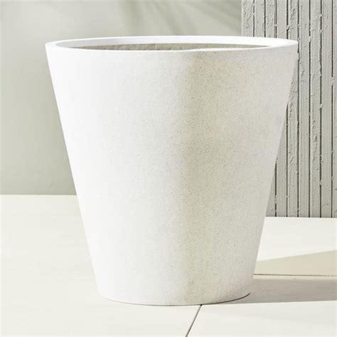 shore polyterrazzo extra large white planter o u t d o o