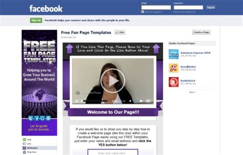 free fan page templates how to create a fan page tools and tips webgranth