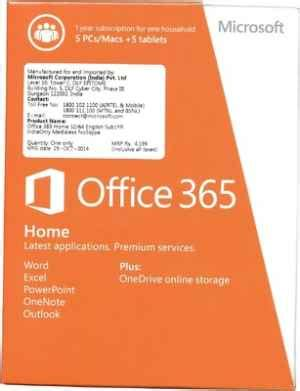 Software Microsoft Office 365 ms office 365 personal ms microsoft office software