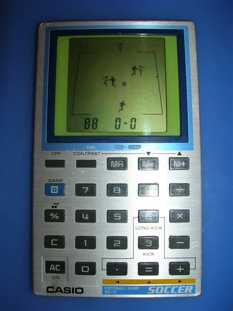 calculator the game handheld empire game casio soccer calculator