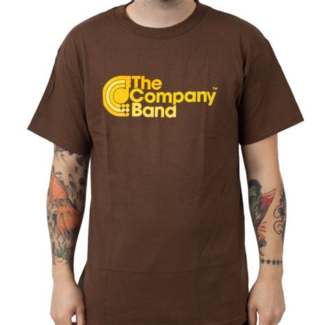 Brown T Shirt the company band quot brown quot t shirt indiemerchstore