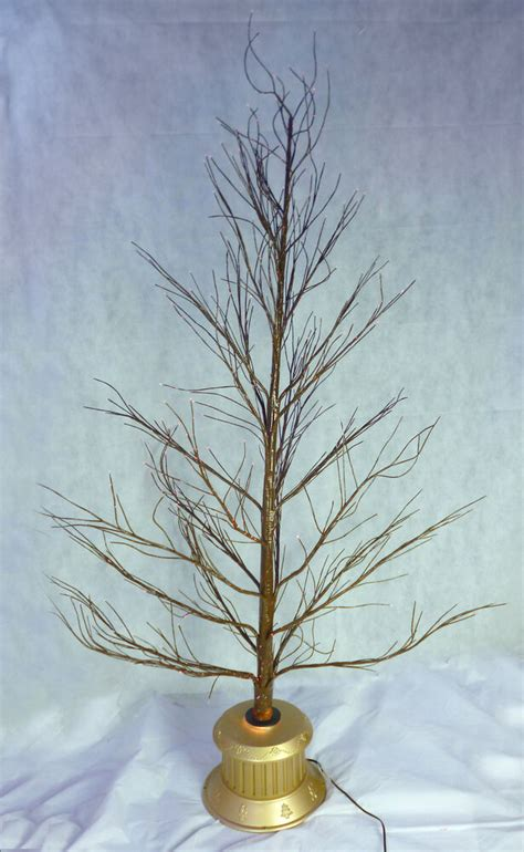 72 inch brown fibre optic twig tree gold base tree fo72tgb ebay