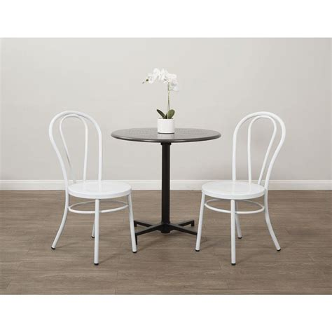 White Metal Dining Chair Ospdesigns Odessa Solid White Metal Dining Chair Set Of 2 Od2918a2 11 The Home Depot