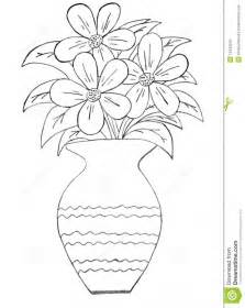 Face Or Vase Flower Pot Sketch Img Flower Pot Clipart Outline