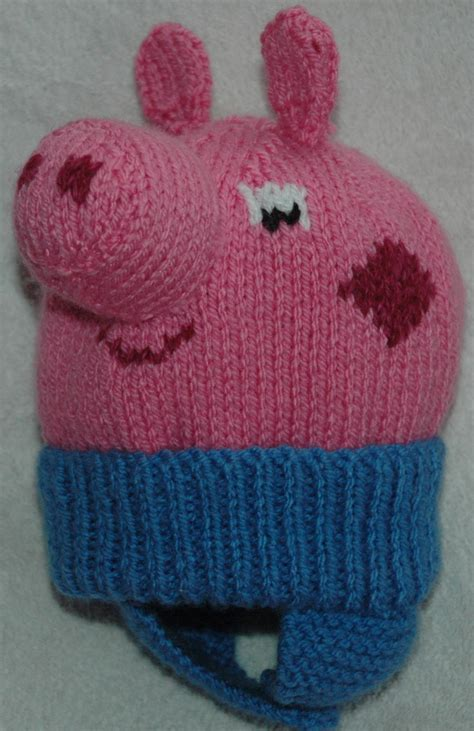 knitted pig hat peppa pig george hat pattern knits r us