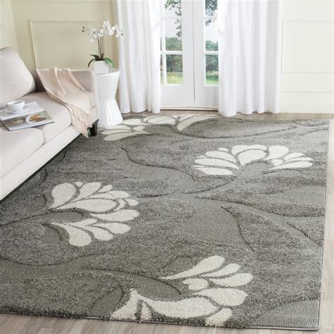 gray and beige area rug safavieh florida shag gray beige 8 ft x 10 ft area rug sg459 8013 8 the home depot