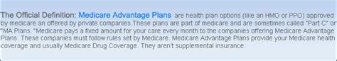 supplement insurance definition medicare advantage plans in today s market