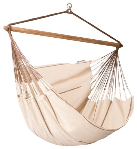 hammock swing chair la siesta hammock chair lounger habana nougat contemporary hammocks and swing chairs by la