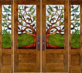 Stained Glass Front Doors Stained Glass Doors Eclectic Front Doors By Calarchitecturaltraditions