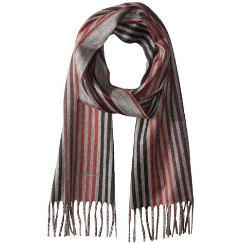 salvatore ferragamo multi stripe scarf for