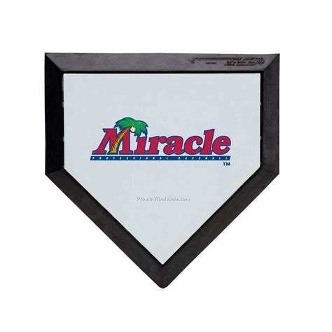 custom logo pocket sized baseball homeplate 1 4 scale