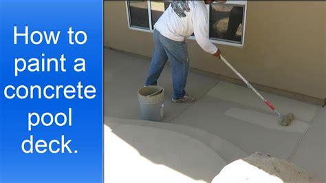 paint  concrete pool deck youtube