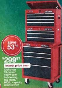 best black friday tool chest deals craftsman 13 drawer heavy duty ball bearing tool chest