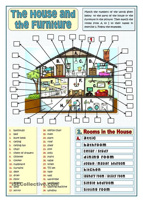 home design vocabulary 50 000 free esl efl worksheets made by teachers for